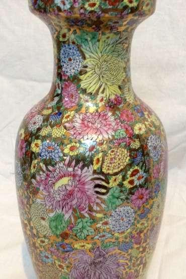 Çin Çiçek Dekorlu Vazo