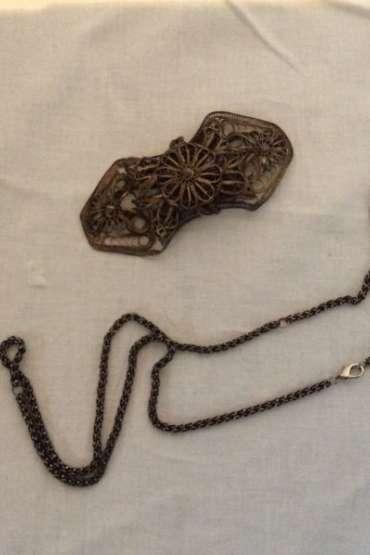 Gümüş Kemer Tokası ve Saat Köstek Zinciri