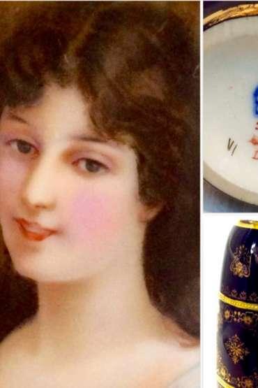 Viyana Oryantal Kadın Resimli Vazo