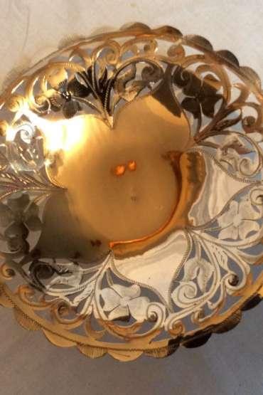 Gümüş 800 Ayar Damgalı,Kıl Testere İşçilikli Şekerlik