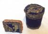 Kadife Üzerine Altın Sırma Işlemeli Sigaralık ve Kibritlik