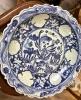 Mavi Beyaz 45 cm Antika Tabak