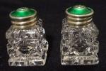 Gümüş Mineli Kristal çift Tuzluk Biberlik