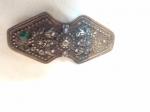 Gümüş  Üzerinde bir Adet Zümrüt ve Bir Adet  Yakut Taş olan Osmanlı Kemer Tokası