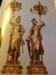 Athena Jeanne D'arc Çift Şamdanlı Heykel