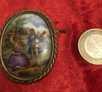 Limoges porselen Broş 1