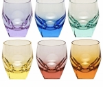 Moser renkli kristal bardak 6 adet