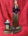 Bronz Fildişi,Altınkaplama,onix  mermer heykel