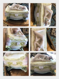 Porselen nü kadınlı kutu