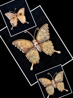 Mineli Kelebek Broş