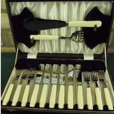 Vintage 12 adet  Çatal Bıçak+ 2 Ad. Servis
